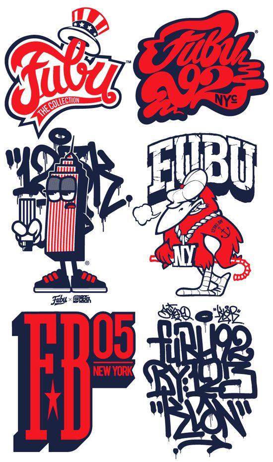 FUBU x 123KLAN by 123KLAN , via Behance Graffiti logo