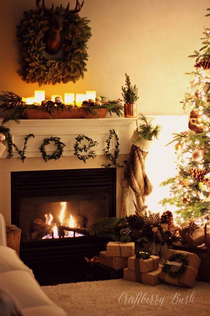 274 best Christmas Mantles images on Pinterest | Garlands ...