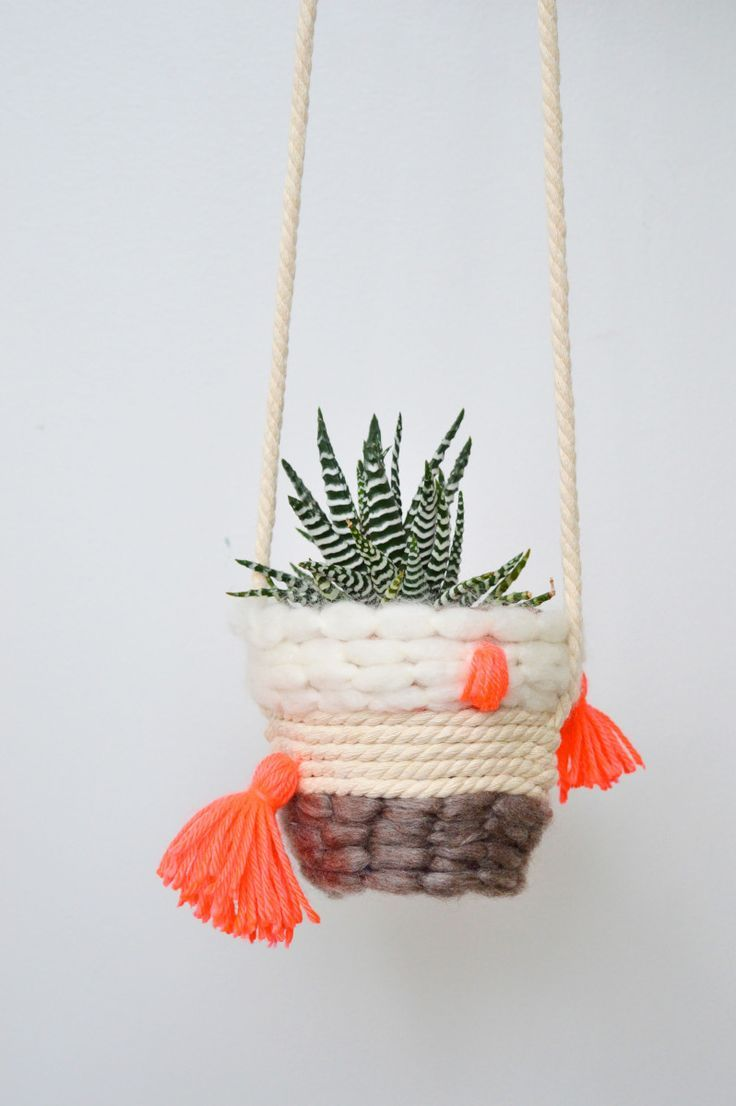 DIY Woven Planter || Oh Lovely Bows