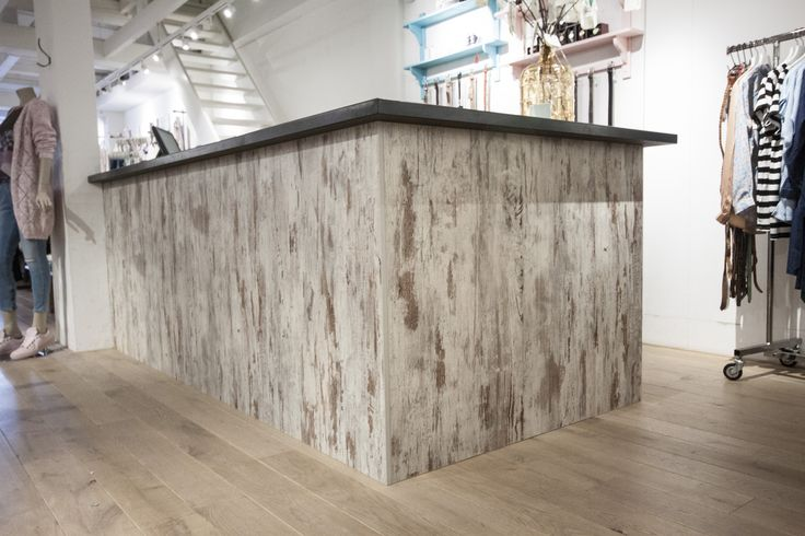 New custommade bar in a woman fashion shop interior