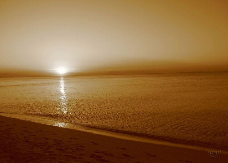 Peaceful Sunset by Scar Design Throw Pillow #sunset #sepia #photography #pillow #home #decor #homegift #gift #redbubble #scardesign #romantic #seascape #sea #travel #Greece #seashore #landscape #nature #island