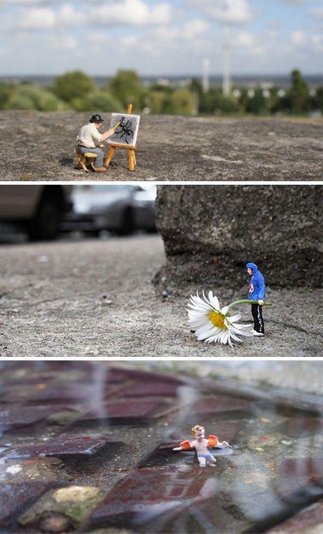 Miniature City Scenes: 21 of Slinkachu's Tiny Art Installations | WebUrbanist