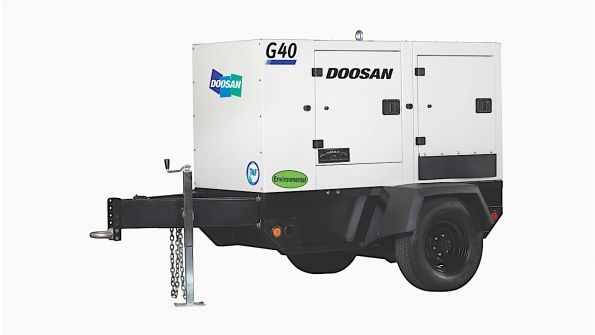 Product of the Week - Doosan G40WDO mobile generator #heavyequipment #construction