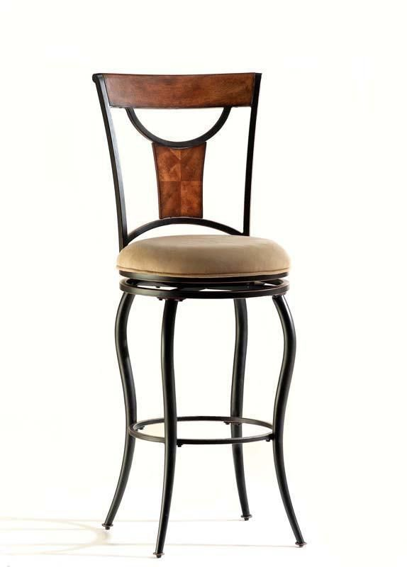 Hillsdale Pacifico Swivel 30 Inch Barstool in Black w/ Cooper Highlights 4137-830