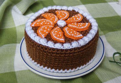 AMIGURUMIS AND CROCHET: CAKE  rica rica de naranja y  chocolate