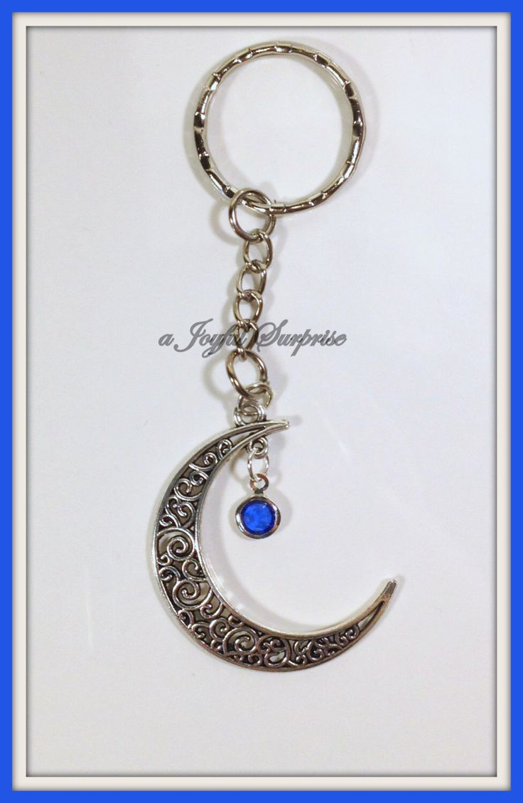 A personal favorite from my Etsy shop https://www.etsy.com/ca/listing/258735380/sale-crescent-moon-keychain-moon-key