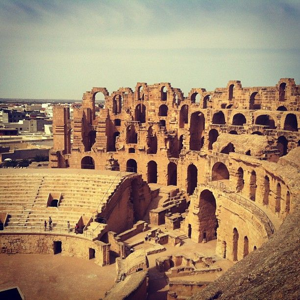 El Jem Tunisia . Amazing place to visit - you can actually feel the atmosphere down in the dungeons.