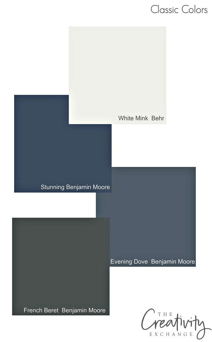 Classic cabinet paint colors that have a lot of depth.