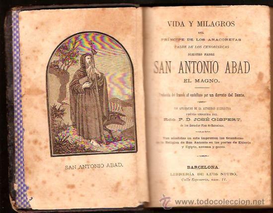VIDA Y MILAGROS DE SAN ANTONIO ABAD , EL MAGNO (1881) - Foto 1