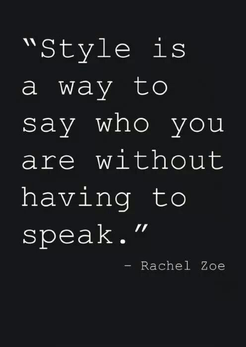 Good quote about developing your style