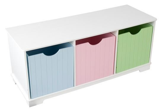 Nantucket Storage Bench - Pastel