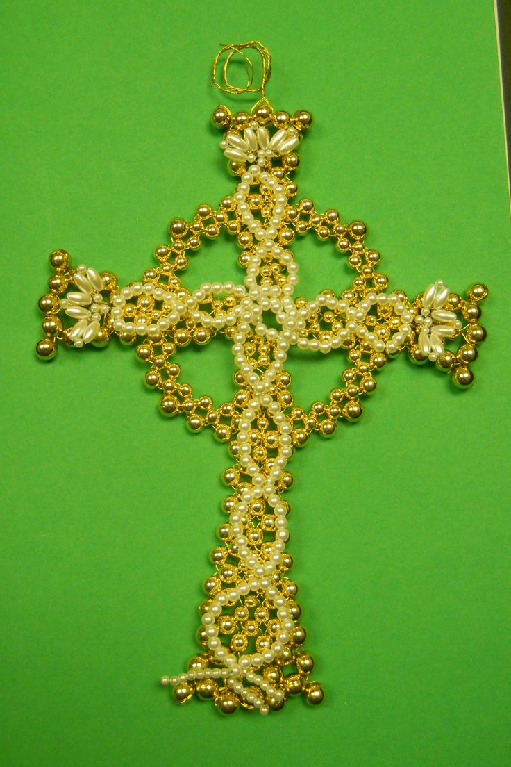 Celtic Cross Chrismons Ornament - Home Size