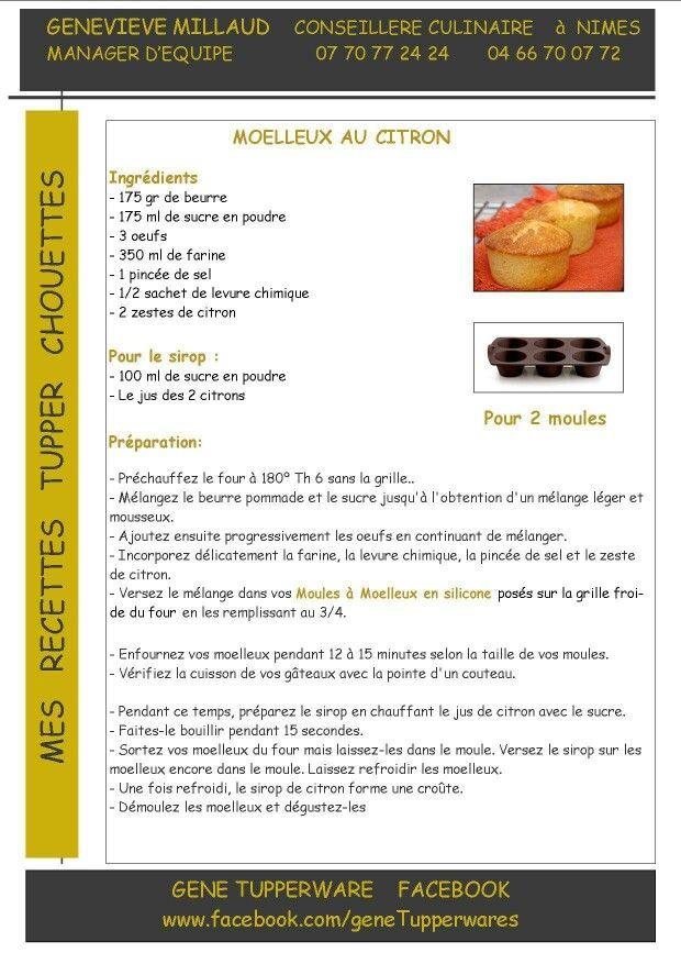 Dessert - Moelleux au citron - Tupperware