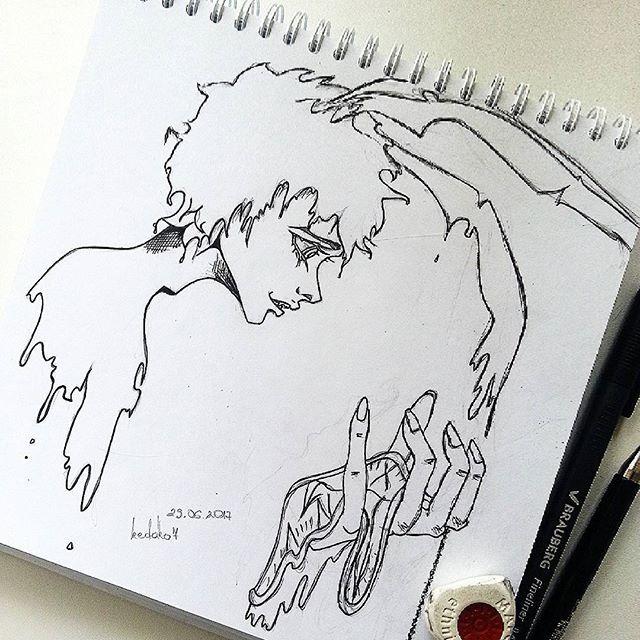 Моя страна чудес и белые кролики... #sketch #sketchbook #sketching #draw #drawing #aliceinwonderland #thewitherabbit #witherabbit #animestyle #рисую #скетчбук #скетч #хобби #алисавстранечудес #белыйкролик