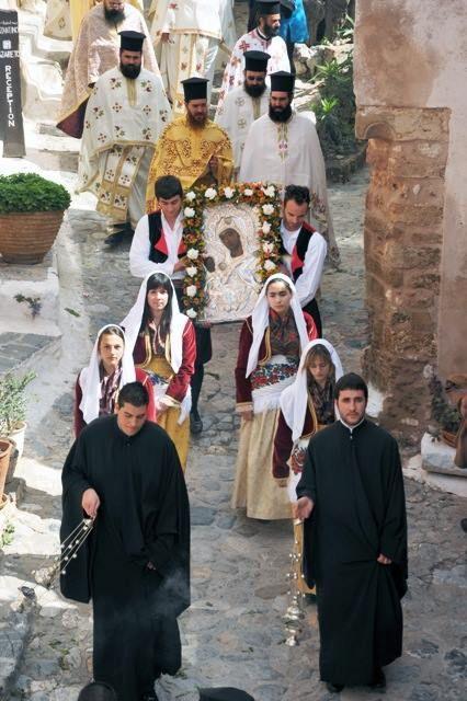 "Icoana Maica Domnului ""Chrysafitissa"" din Monemvasia-Grecia"