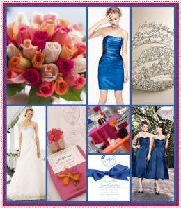Ideas for a spring wedding with navy and pink colors!
