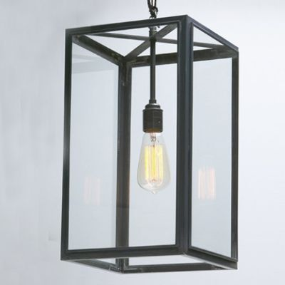 Davey Lighting  Weathered Brass Square Pendant