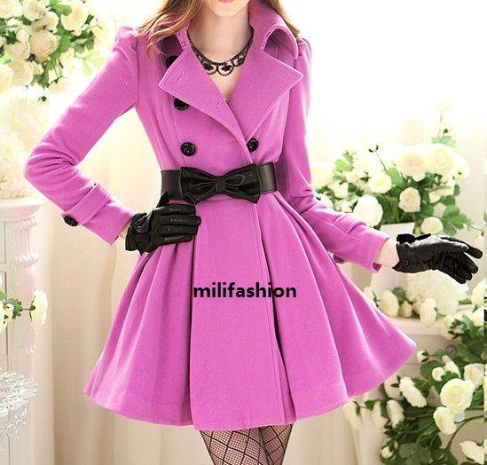 Fashion Forward Winter CoatFlair Skirts, Elegant Purple, Fashion Forward, Lady Fashion, Purple Buckles, Long Lady, Lady Coats, Winter Coats, Buckles Long