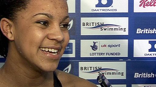 Achieng Ajulu-Bushell - a 16-year-old who represented Kenya at last year's World Championships - wins the women's 50m breaststroke - Nick Hope reports.