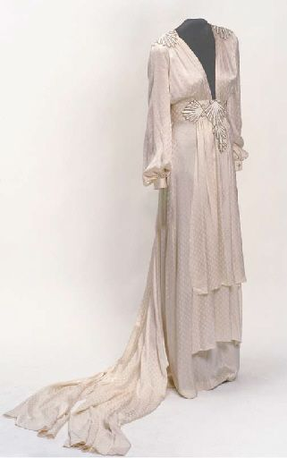 White silk dress, Thea Porter, 1970s.