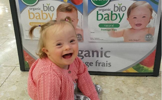 A beautiful little girl with Down's syndrome is now gracing yoghurt pots across Ireland. Abby Dillon has just been revealed as one of four faces of Glenisk's Or
