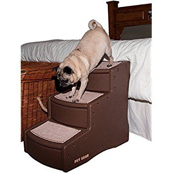 pet gear easy step iii pet stairs for cats and dogs cocoa for pets up to 150 pounds