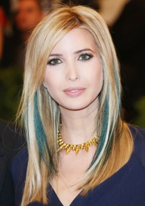Best 25 blue hair highlights ideas on pinterest colored ivanka trump on having it all teal hair highlightspeak pmusecretfo Choice Image
