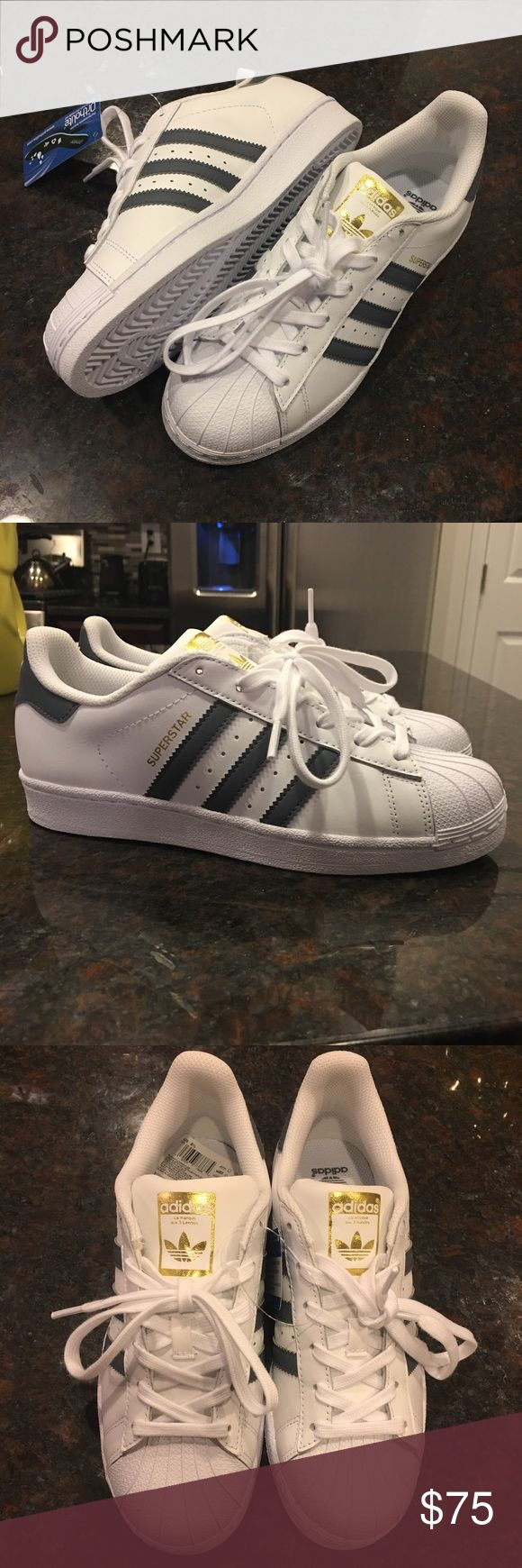 more photos 65ef4 98206 Adidas superstar in the colors white   Onix Brand new in box, adidas  superstars.