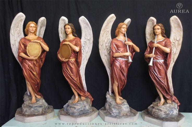 Ángeles policromados del Paso del Cristo del Paño de Moclín