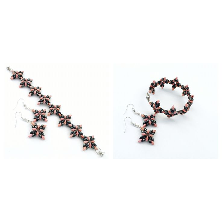 Superduo bracelet and earings. For more details, please send me a pm