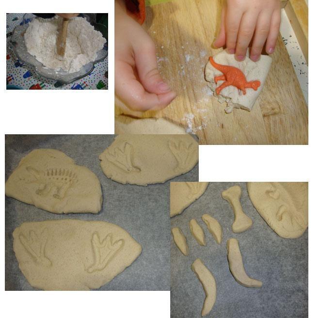 Fósiles con pasta de sal
