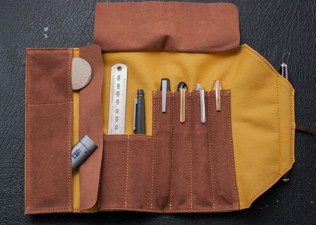 leather pencil roll