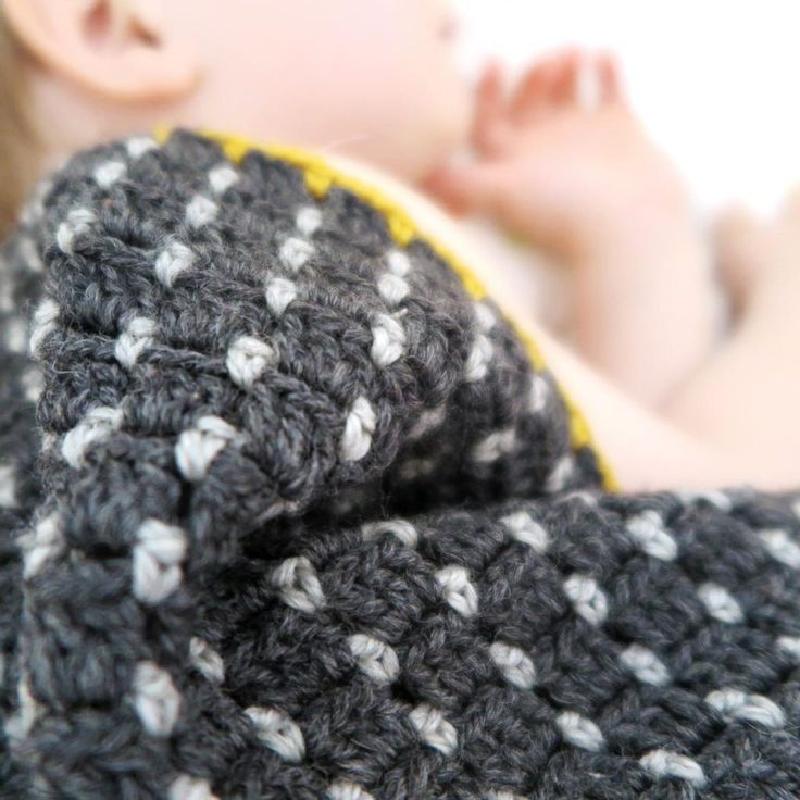 lalylala » Rice Seed Blanket, #crochet, free pattern, #haken, gratis patroon (Engels, Duits), deken, baby, in het rond gehaakt, #haakpatroon