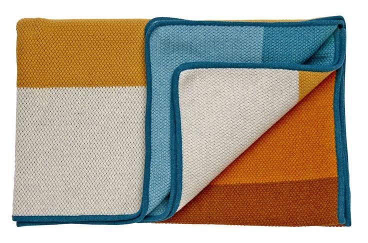 Gradient Colour blanket, green/yellow