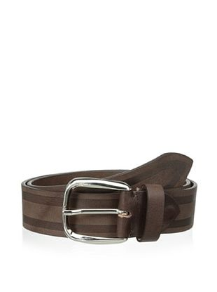 51% OFF Bolliver Men's Striped Belt (Brown/Black)