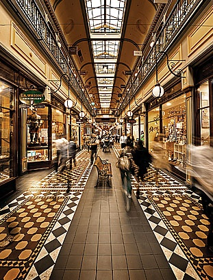 Adelaide Arcade, supposedly haunted.