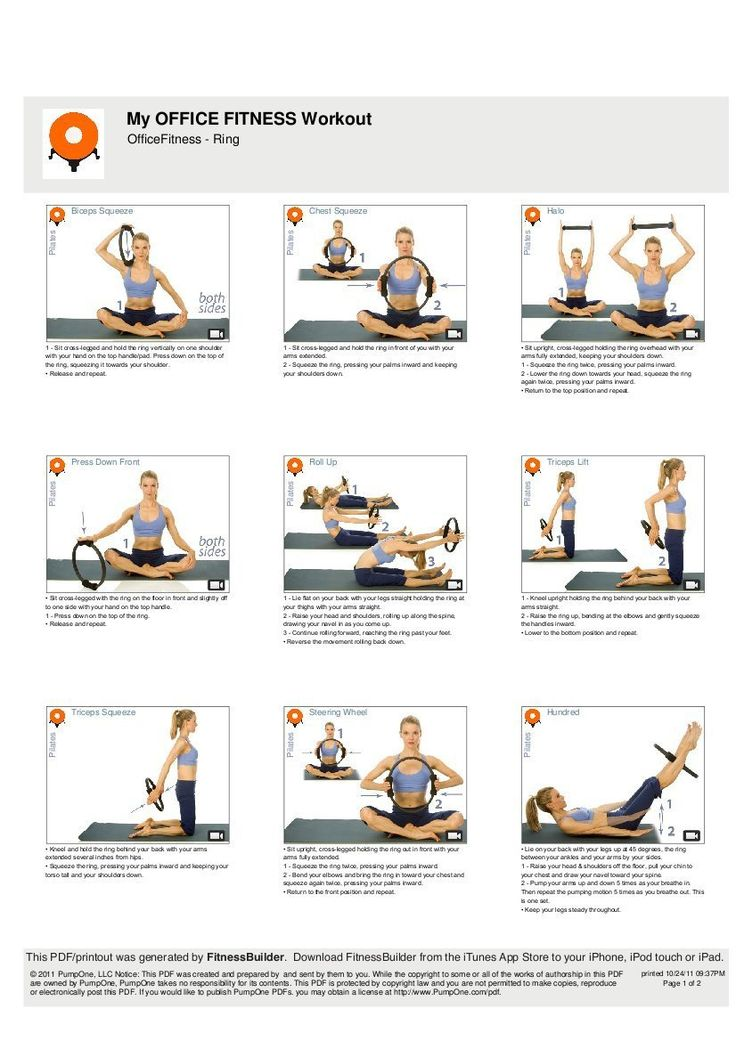 Office Fitness Pilates Resistance Ring with Exercise DVD - Versatile Exercise Accessories - Aerobic Ring