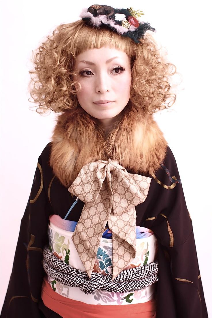 nice hair and cool kimono