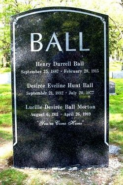 Lucille Ball, Lake View Cemetery, Jamestown, NY (new location)
