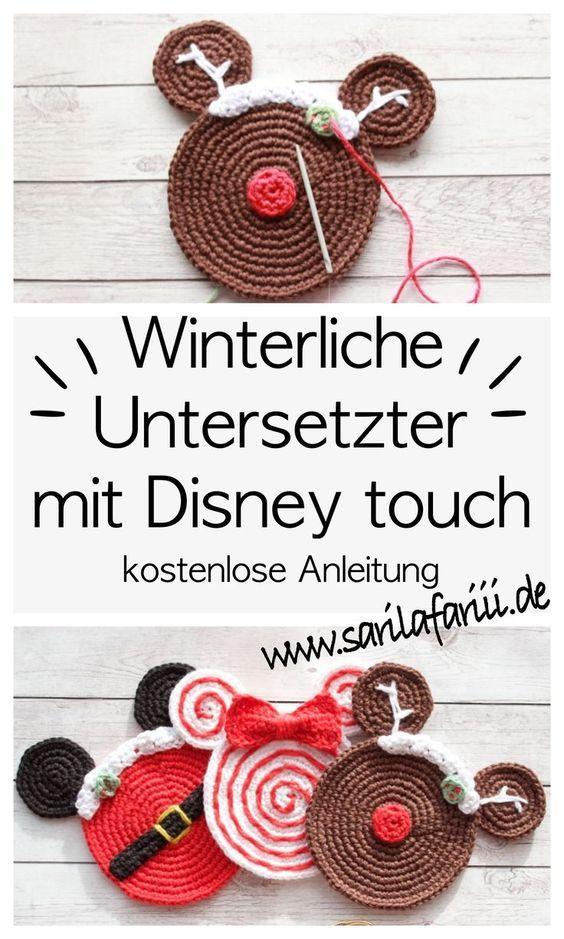 Winterliche Untersetzer Häkeln Mit Disney Touch Kostenlose