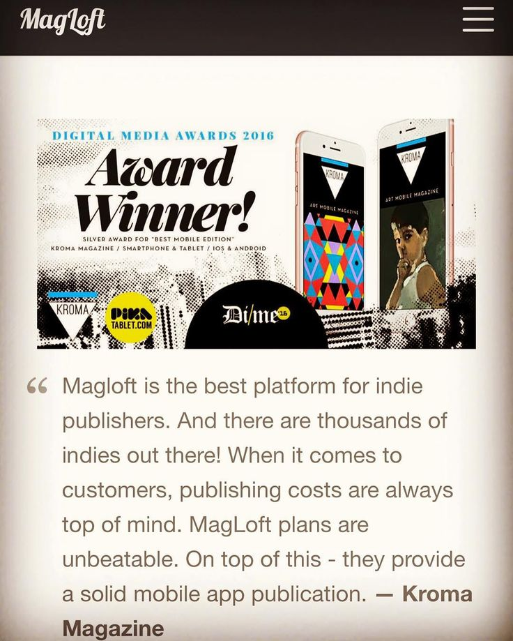 """From Paper to Pixel: Why Pika Tablet Choses MagLoft To Bring Magazines Into The Digital Era"" - http://www.magloft.com/customers/yannis-spanoudis?utm_source=Viber&utm_medium=Chat&utm_campaign=Private - @magloft #kromamagazine #pikatablet #ios #android #digitalpublishing #artmagazine #magloft"