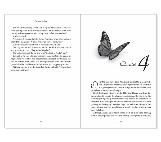 Unexpected Metamorphosis book layout