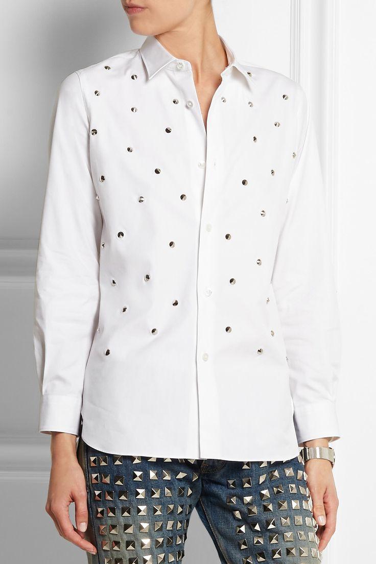 Junya Watanabe|Studded cotton-poplin shirt|NET-A-PORTER.COM