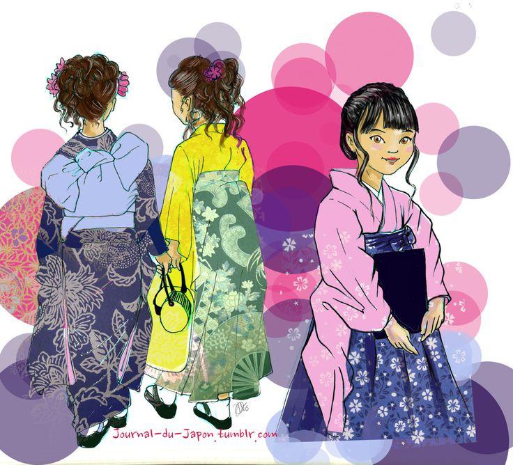 Il n'y a pas que les sakura qui fleurissent au printemps! Le haru-yasumi (春休み- les grandes vacances du printemps) annonce la fin del'année, et donc pour certain la fin des études. C'est alors pour leur cérémonie de graduation (卒業) que les jeunes filles mettent leur plus beau kimono (着物) et se promènent dans la rue afin de rejoindre leurs amis, familles et prendre des photos souvenirs. Il y en a de toutes les couleurs et de tous les styles. C'est un vrai défilé printanier que je…
