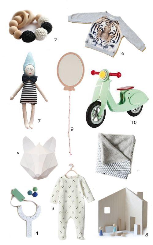 10 hübsche Geschenk-Ideen für KIDS. Und deren Eltern. Alles easypeasy online orderbar.