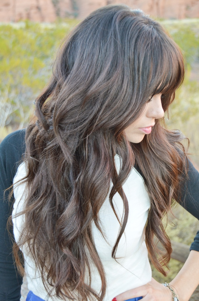 Gorgeous Loose Curls And Bangs Curled Hairstyles Curly