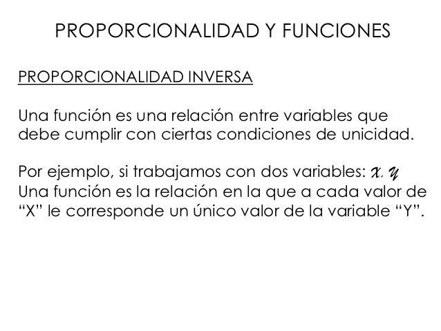 Proporcionalidad y funciones