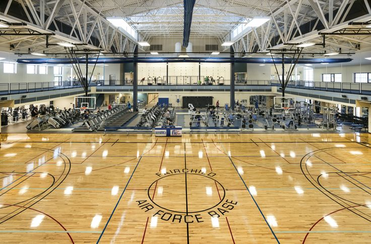 ALSC Architects | Fairchild Air Force Base Fitness Center, Gym