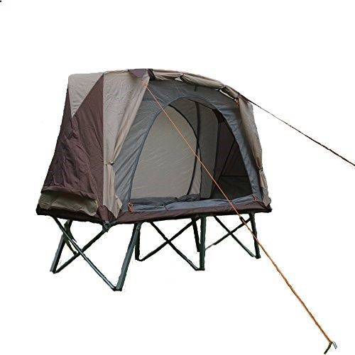 HIMALAYA Compact Protable Tent Cot 1Person Camping Cot Single Sandy Beach Fishing Tent Doubledeck Ultralight Tent off the ground >>> Learn more by visiting the image link.