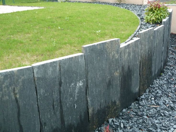 Préférence Retenue terre ardoise | Murets jardins | Pinterest | Terre  PI43